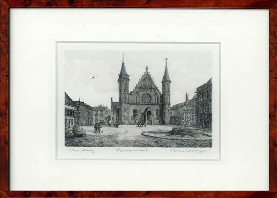 Binnenhof  Den Haag 30x22 cm