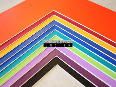 passepartout in alle kleuren van de regenboog