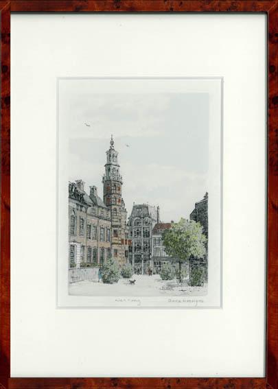 Groenmarkt Den Haag 30x22 cm