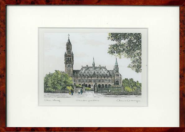 Vredespaleis Den Haag 30x22 cm